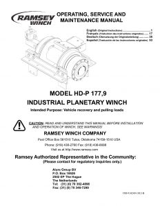 914249-1012-B_EN-FR-DE-SP (HDP 177,9 Owners Manual) - Ramsey